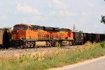 BNSF 6891 heads nb with a coal train.